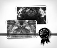 Diamond business cards. Vector illustration Royalty Free Stock Photo