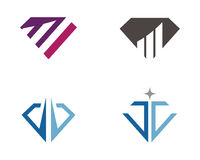 Diamond Business Finance-Berufslogoschablone Lizenzfreies Stockbild