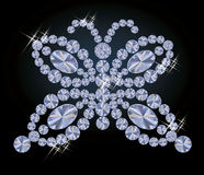 Diamond butterfly card, vector Royalty Free Stock Images