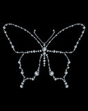 Diamond butterfly,  illustration Royalty Free Stock Photo