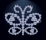 Diamond butterfly, vector Royalty Free Stock Images