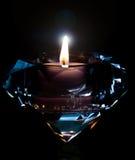 Diamond Candle lizenzfreie stockfotos