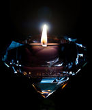 Diamond Candle Royalty Free Stock Photos