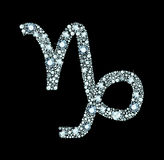 Diamond Capricorn Symbol Images libres de droits