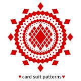 Diamond card suit pattern Stock Images