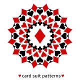 Diamond card suit snowflake Royalty Free Stock Images