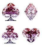 Diamond Card Suits lilas coloré a isolé illustration de vecteur