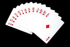 Diamond cards royalty free stock image