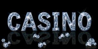 Diamond casino invitation card Royalty Free Stock Photography