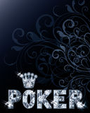 Diamond casino poker card royalty free illustration