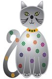 Diamond cat. This is a cat with diamonds on it Royalty Free Stock Images