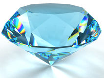 Diamond with caustic. Stock Photos
