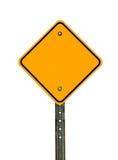 Diamond Caution Sign vazio Foto de Stock