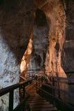 Diamond Cave of Tham Pranangnai in Krabi-provincie, Thailand Royalty-vrije Stock Fotografie