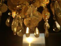 Diamond chandelier  lighted up by the slovakian sunset Royalty Free Stock Images