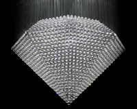 Diamond. Chandelier made from crystal gem stones in diamond shape Stock Photography