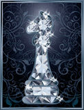 Diamond chess Knight card Stock Photos