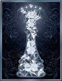 Diamond chess Queen card Stock Image
