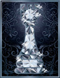 Diamond chess Rook card Royalty Free Stock Photography