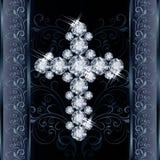 Diamond Christian Cross, greeting card Stock Photo