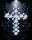 Diamond Christian Cross, vip card Stock Image