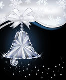 Diamond Christmas bell greeting card Stock Image