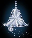 Diamond christmas bell Stock Photo