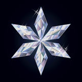 Diamond christmas snowflake, vector illustration Royalty Free Stock Photography