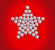 Diamond christmas star Stock Photos