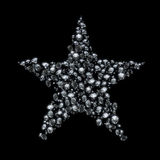 Diamond christmas star Stock Photography