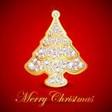 Diamond Christmas Tree Stock Image