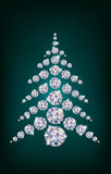 Diamond Christmas Tree Stock Photo