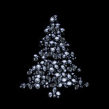 Diamond christmas tree Royalty Free Stock Photography