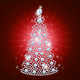 Diamond Christmas Tree / Holiday background Royalty Free Stock Photo