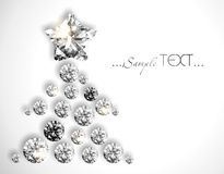Diamond Christmas tree with a star. Stock Images
