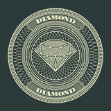 Diamond circle decorative Stock Photos