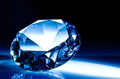 Diamond. Classic cut blue tone Stock Photography