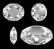 Diamond  classic cut isolated Royalty Free Stock Photos
