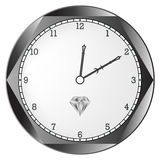 Diamond clock Royalty Free Stock Images