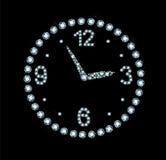 Diamond Clock Royalty Free Stock Photos