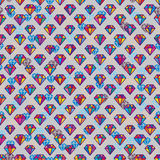 Diamond colorful symmetry seamless pattern Royalty Free Stock Images