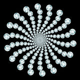 Diamond composition Royalty Free Stock Photography