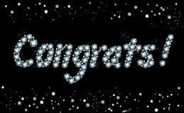 Diamond Congratulations Stock Photography