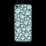 Diamond covered phone case Stock Photography