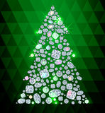 Diamond Cristmas tree Royalty Free Stock Images