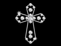 Diamond cross Royalty Free Stock Image