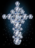 Diamond cross, greeting card Royalty Free Stock Photography