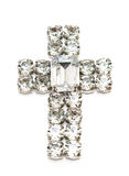 Diamond cross isolated Stock Image