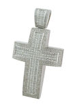 Diamond cross necklace Royalty Free Stock Photography