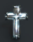 Diamond cross purity shiny light Royalty Free Stock Photography